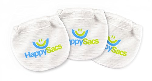 HappySacs Scrotum Underwear - Prevents Sticking, Chafing, and Batwings - Ultimate Comfort All Day Long - 3 Pack (Medium, White)