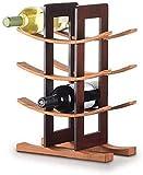 Metal Wine Rack, Standing Wine Racks, 4 Tier Industrial Style Vintage Home Decorations for Cabinets/Cupboards/Countertops, 12 Bottles (marrón)