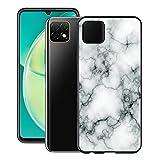 KJYF Funda para Huawei Nova Y60 (6.6'), Fundas Negro Premium Anti Deslizamiento Cover Caso Suave Silicona TPU Carcasa para Huawei Nova Y60 - Canica