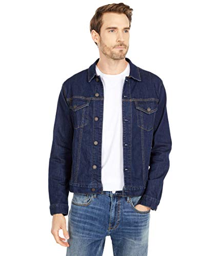 Lucky Brand Men's Button Up Denim Trucker Jacket, Rinse 375, XL