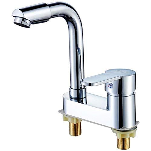 Grifo mezclador para lavabo, aireador de doble orificio, lavabo para inodoro, desagüe...