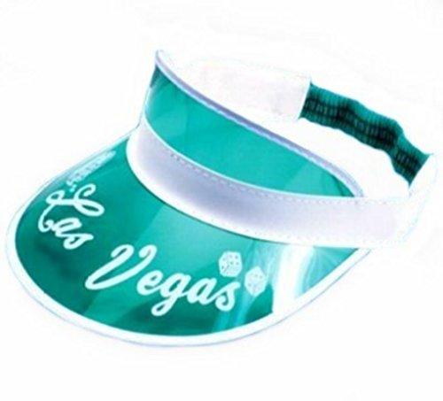 Visiere Casquette Poker Las Vegas - Vert transparent - Taille unique - Las Vegas Parano Texas Hold'em Casino