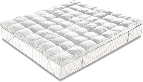 Casatex Topper Bed Correttore Materasso Matrimoniale in Microsfere, Trapuntato, Anallergico e Traspirante