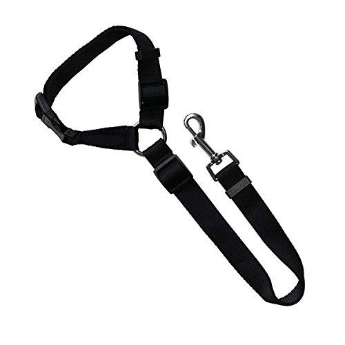 KAEHA SUN-051-09 Hundegeschirr aus Nylon, verstellbar, Sicherheitsgurte, für große und mittelgroße Hunde, Schwarz