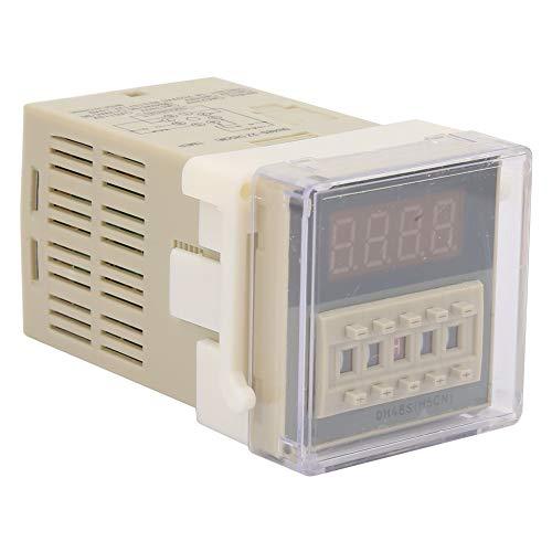 Interruptor de Temporizador, relé de retardo de Tiempo Doble de 0.01S-99H99M, lámpara de Carretera con Pantalla LCD para Vallas publicitarias al Aire Libre(24VAC/DC)