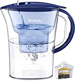 MOSFiATA Water Filter Jug, 2.5L Large Water Purifier Filter Pitcher, 5-Layer Water Filtration for Reducing Chlorine, Lead, Alkaline, Heavy Metals and Odou