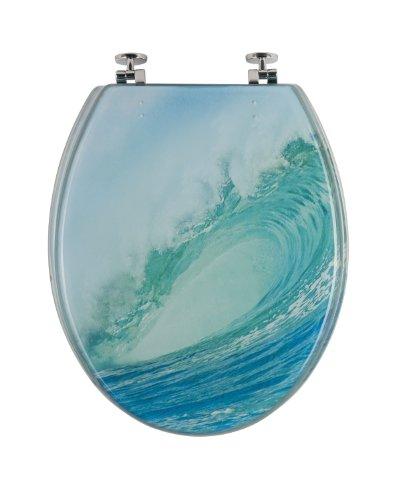 WC-bril decoratieve golf | toiletbril | wc-bril van kunststof metalen scharnier