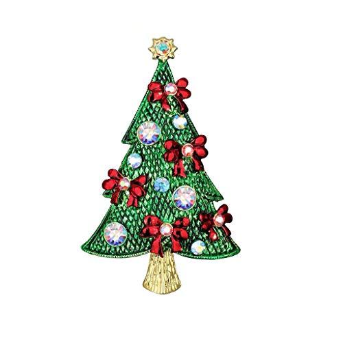 Nwn Broche de Diamantes de Colores for árboles de Navidad, Cuento de Hadas Europeo y Americano, Decoraciones con Trajes de Vestir, for Regalos navideños