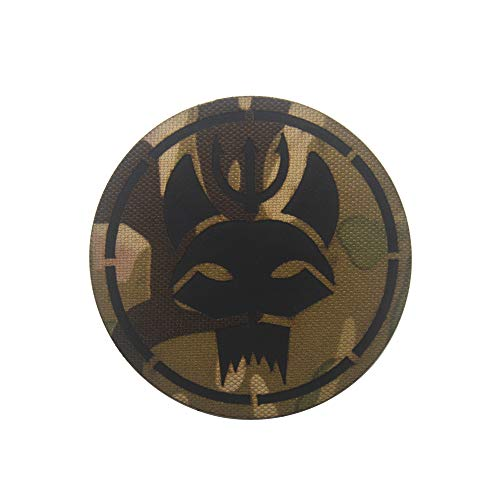 Ohrong Seal Team Infrarot Morale Tactical Patch Camouflage Reflektierendes Paintball Military Badge Armband Emblem Applikation mit Klettverschluss
