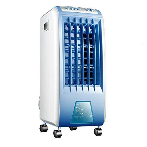 YJFENG-Aire Acondicionado Portátil 3 En 1 Ventilador Humidificador Purificador De Aire Ajuste De 3 Velocidades Balanceo Automático 4 Ruedas Universales (Color : Blue, Size : 27x25.6x56.5cm)