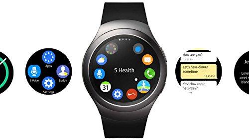 Samsung Gear S2 Smartwatch International Version R720 Stainless Steel 42mm Dark Gray
