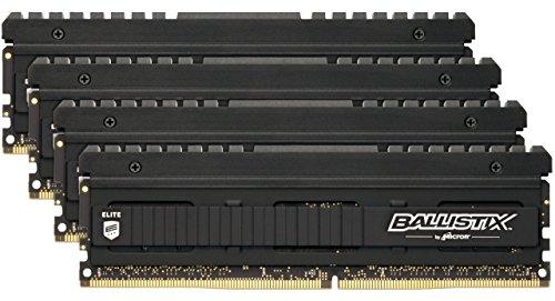 Crucial Ballistix Elite BLE4K8G4D36BEEAK 32GB (8GBx4) Desktop Gaming Speicher Kit (3600 MHz, DDR4, DRAM, CL16)