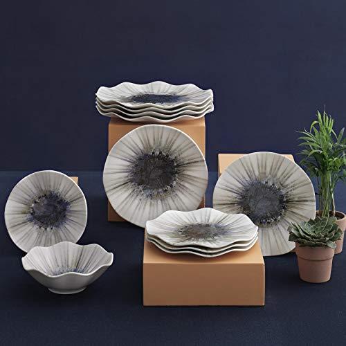 Güral Porselen Juego de 24 piezas moderno Dizayn (bru)