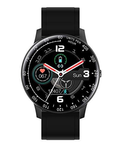 Reloj Smart de Radiant. Colección Times Square. Reloj Negro con Correa de Silicona Negra y Brazalete de Acero Negro. IP67. 44mm. Referencia RAS20401.