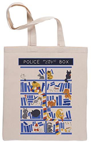 Library Box Einkaufstasche Beige Shopping Bag Beige