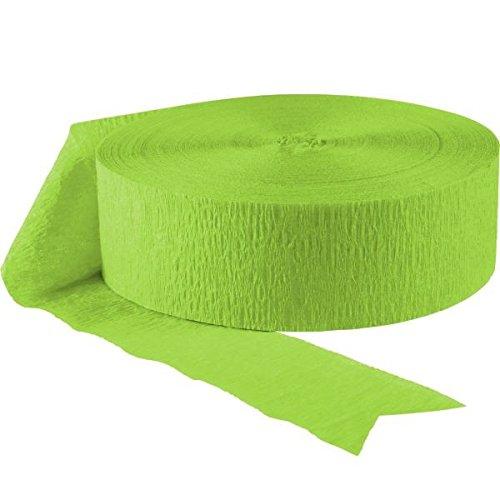 Jumbo Roll Party Crepe Streamer   Kiwi Green   500'   Party Decor