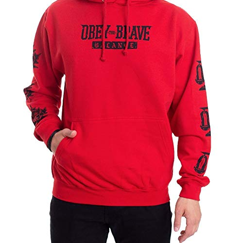Obey The Brave - Balanced Box Logo Red - Hoodie-Large