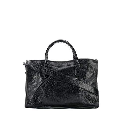 Balenciaga Luxury Fashion Donna 431621D94J71000 Nero Pelle Borsa A Mano | Stagione Permanente