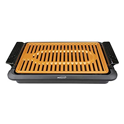 Brentwood Appliances TS642 1,000-Watt Indoor Electric Copper Grill, One Size, Black