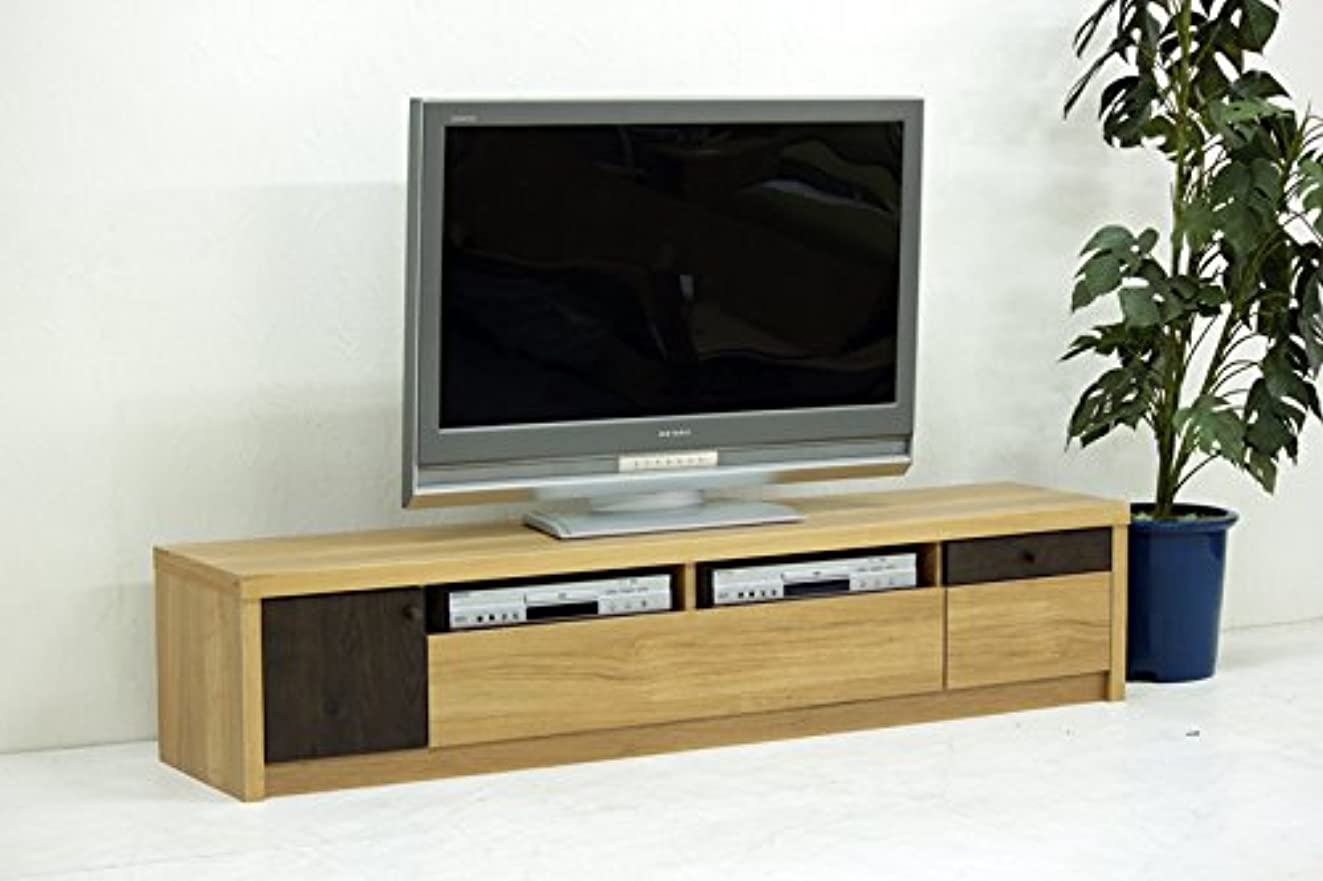 無駄な有毒な小さな日本製 幅180cm ロータイプテレビボード ナチュラル 完成品
