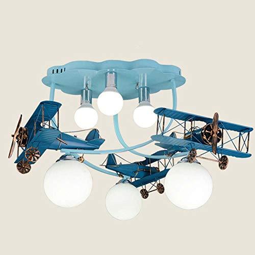 Plafondlamp - Logs Country Nursery LED vliegtuig creatief cartoon wandlamp hout studie slaapkamer plafondlamp (kleur optioneel) - zijstart