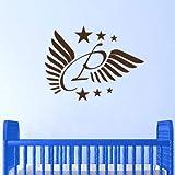 nkfrjz Personalisierte Name Wings Sticker Decal Wallpaper Dekore Sie wandaufkleber kinderzimmer
