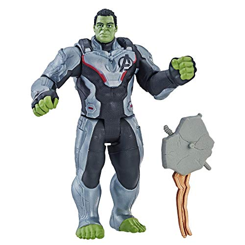 Hasbro Marvel Avengers E3938ES0, Endgame, Hulk con accessorio (Action Figure, 15 cm), Multicolore