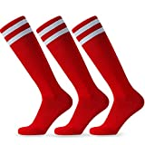 Red Junior Football Socks Bulk - 3 Pairs...
