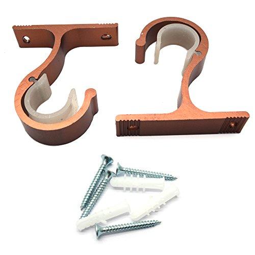 Sydien Gardinenstangenhalterungen, robust, mit Schrauben und Dübeln (Kupfer), 2 Stück