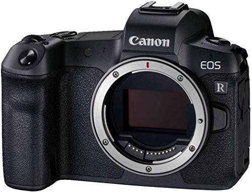 Canon EOS R + EF to RF adapter–Fotocamera Compatta da 30.3MP (Wi-Fi, Bluetooth, sensore Dual Pixel CMOS AF, ISO, 4K, AF con bassa illuminazione, A sparare Serie di 8FPS, DiGIC 8, USB 3.1) Nero