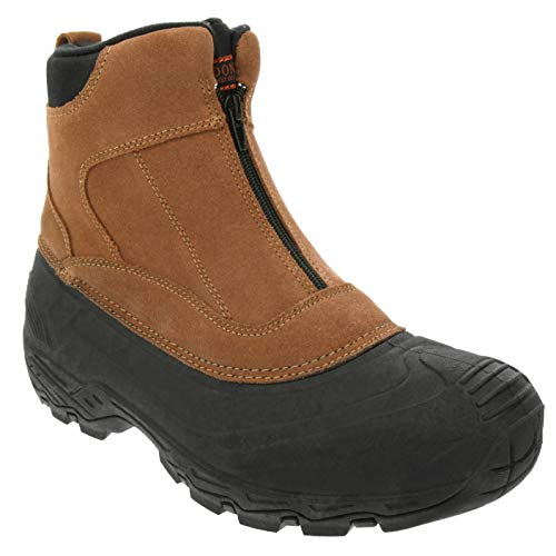 LONDON FOG Mens Holburn Waterproof and Insulated Cold Weather Snow Boot Brown 10