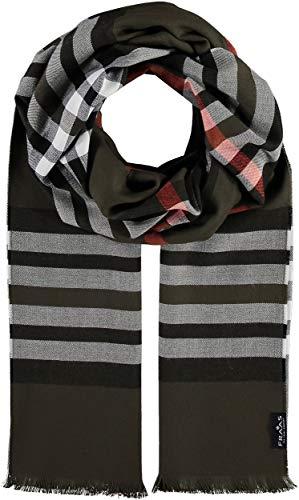 FRAAS FRAAS Lightweight Cashmink Oversize Plaid-Scarf Wrap for Women Men Unisex Khaki