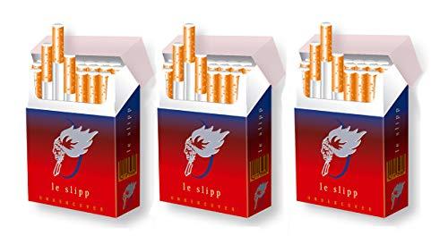 3er Set indo slipp | schicke Papp-Etuis für Zigarettenschachteln | Größe: Bigpack Oversize | Motiv: 009 le slipp