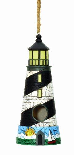 Spoontiques 10243 Schwarz-Weiß Leuchtturm Birdse