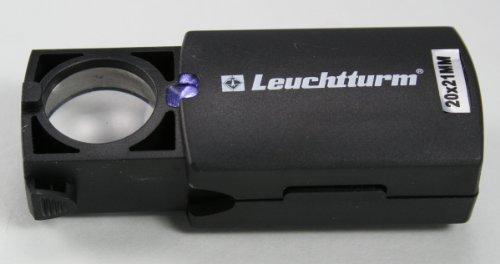 Leuchtturm 321419desplegable-led Lupe, 20-fache Vergrößerung, Schwarz, Ø 21mm