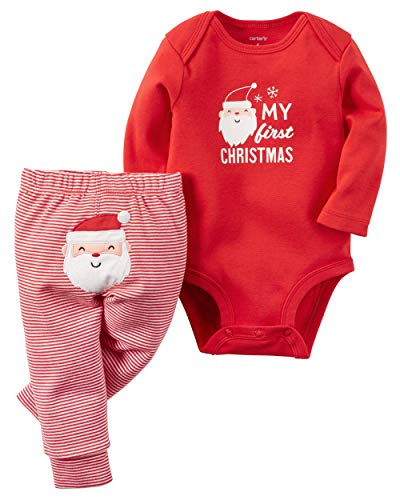 "Carter's Baby 2-Piece Bodysuit and Pant Set, ""My First Christmas"", Red, 3M"