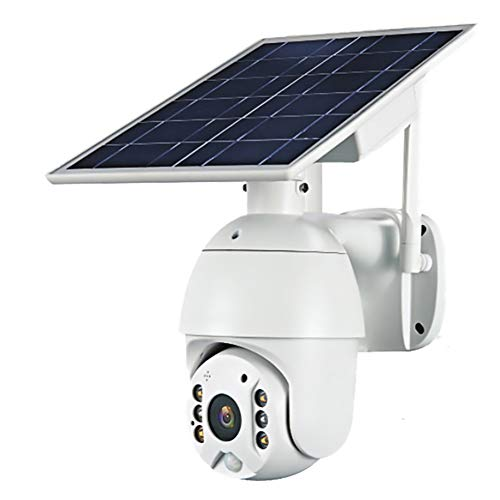 Cámara con batería Solar 3G / 4G LTE, cámara de Seguridad PTZ para Exteriores con Panel Solar, visión Nocturna en Color, detección de Movimiento por Video, Audio bidireccional