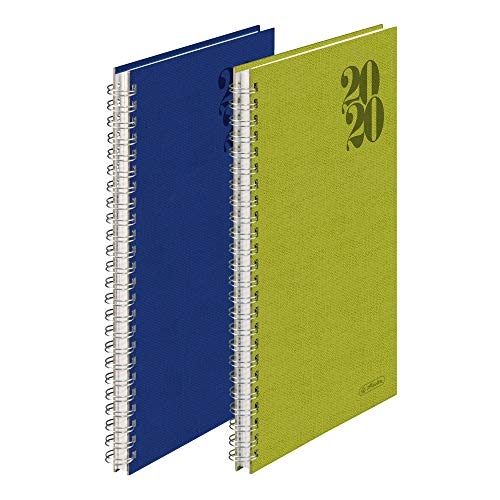 Taschenkalender Spiralkalender A5 Nature 1W/2S, farbig sortiert 2020