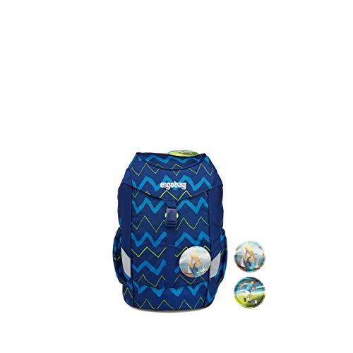 ergobag mini - ergonomischer Kinderrucksack, DIN A4, 10 Liter - FallrückziehBär - Blau
