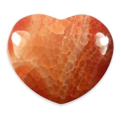 Corazón de cristal ágata rojo fuego ~ 45mm