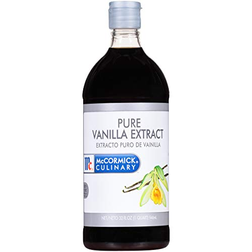 McCormick Culinary Vanilla Extract, 32 fl oz - One 32 Fluid Ounce Container of Gluten Free and Non-GMO Pure Vanilla Extract Made From Premium Vanilla Beans Perfect for Chefs & Home Bakers
