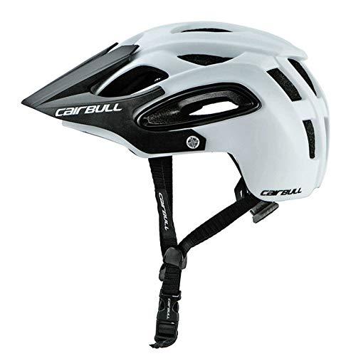 Fahrradhelm mit Sonnenbrille In-Mould Road Mountainbike Helm Sport Belüfteter Reitradhelm-White-1-M(54-58)