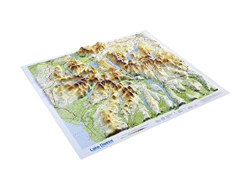 Lake District Raised Relief Map: Unframed (Raised Relief Maps Series)