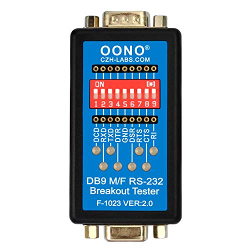 RS232 Breakout Tester LED Monitor, DB9 Male to Female Breakout Module