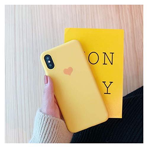 Glqwe Color Candy Color Love Heart Funda para iPhone 12 Mini Pro MAX 6 7 8 11 S Plus X S XR Cubierta de teléfono Máx TPU Soft TPU Casos de Silicona Coque