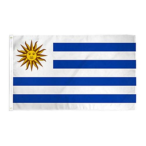 hxflag Uruguay Flag 3x5 Foot Uruguayan National Flags with Brass Grommets 3 X 5 Ft