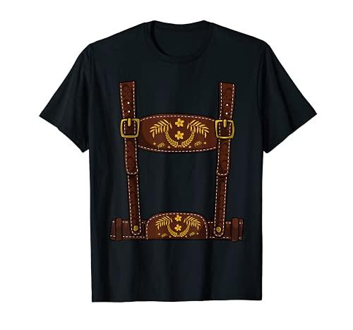 Hombre Disfraz de Halloween Oktoberfest - Lederhosen para hombre Camiseta