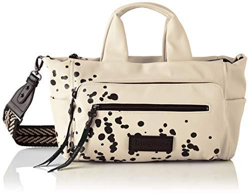 Desigual PU Hand Bag, Mano Mujer, beige/crema, U
