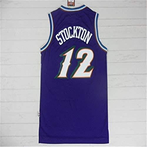 XIETARPAULIN Jerseys de Baloncesto para Hombre, Jazz de Utah # 12 John Stockton, Retro Baloncesto Jersey Sport Chaleco Top Camiseta sin Mangas (Size : XXL)