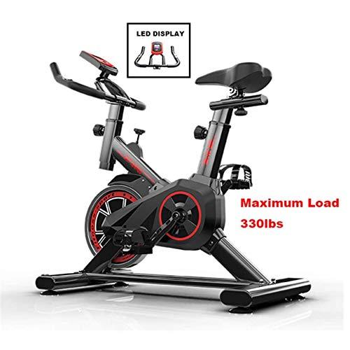 YI'HUI Bicicleta Estática para El Hogar Bicicleta De Spinning, Bicicleta Estática Vertical con Pantallas LCD Súper Silenciosas, Resistencia Infinita Equipo De Ejercicios,Negro